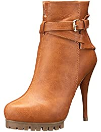 C LABEL Womens Sid5 Closed Toe Ankle Fashion Boots Natural Size 7.0
