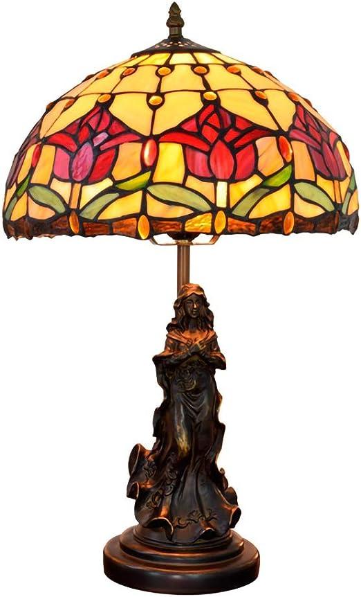 ACHNC Lámpara de Mesa Tiffany Angel Vintage,12 pulgadas Lámpara de ...