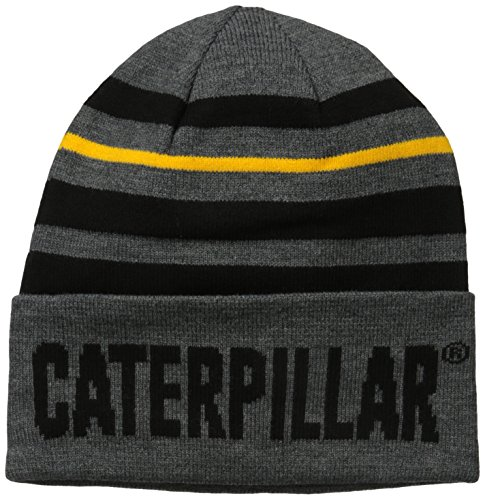Caterpillar Men's Tumbler Knit Cap, Dark Heather Grey, One Size