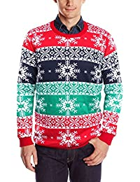 Unisex Funny Print Ugly Christmas Sweater Crewneck Sweatshirt Various Design