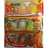 PEEPS Marshmallows (3 pak) - Maple Brown Sugar, Caramel Apple, Candy Corn