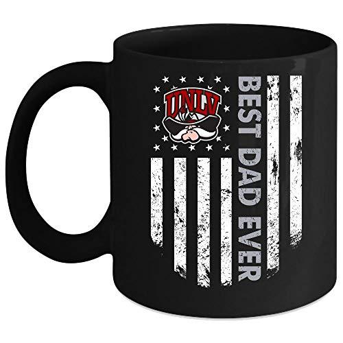 Best Dad Ever Mug, UNLV Runnin' Rebels Cup (Coffee Mug 11 Oz - Black)