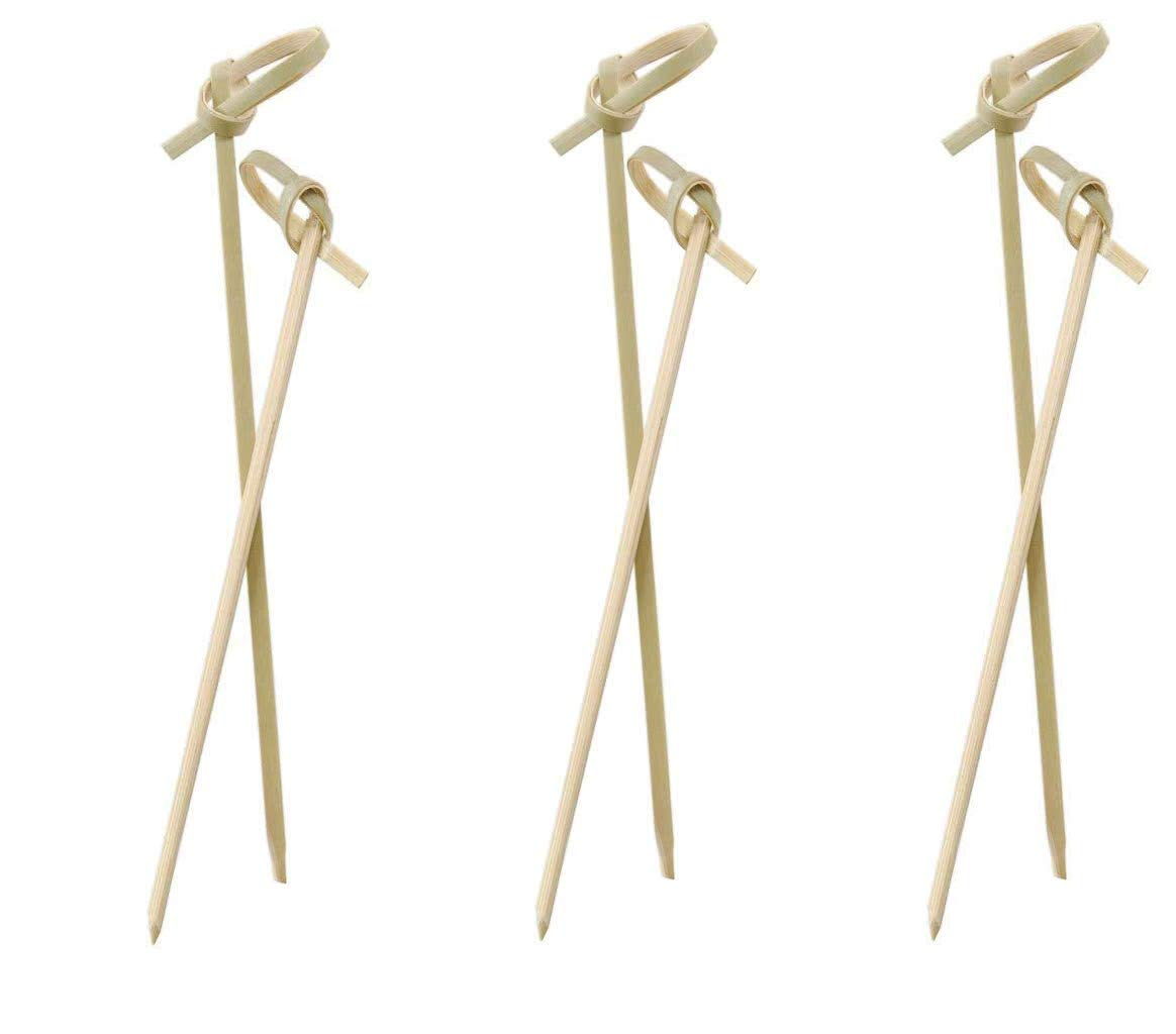 Perfectware Bamboo Knot 4-300ct 4'' Bamboo Knot Picks (Pack of 300) (Тhree Pаck)
