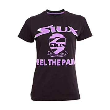 Siux Camiseta Algodon Limited Mujer Negro: Amazon.es: Deportes y aire libre