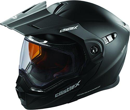 Castle X EXO-CX950 Modular Snowmobile Helmet - Matte Black - XLG ()