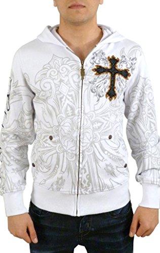 Rebel Spirit Big Cross Hoodie XL White