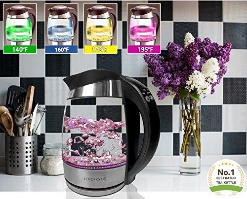 Precision 1.8-liter Electric Tea Kettle Rapid Boil, 5 Preset