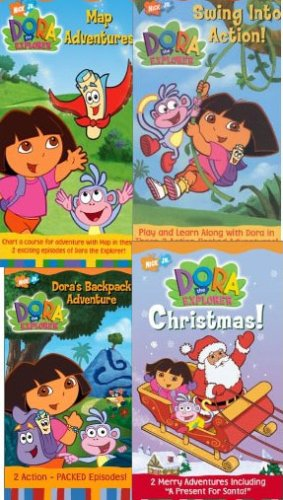 dora of explorer pack 5 volume set : Dora the Explorer: Big Sister Dora, Dora the Explorer - Map Adventures , Dora the Explorer - Pirate Adventure, Dora the Explorer - Move to the Music (Dora The Explorer Big Sister)