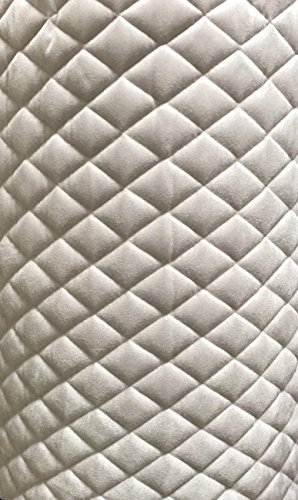 (Suede Quilted Auto Headliner Platinum Headboard Fabric with 3/8
