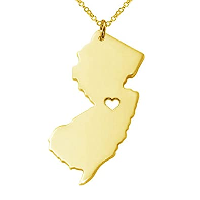 Amazon joyplancraft new jersey state necklace nj state charm joyplancraft new jersey state necklacenj state charm necklacepersonalized new jersey state necklace aloadofball Image collections