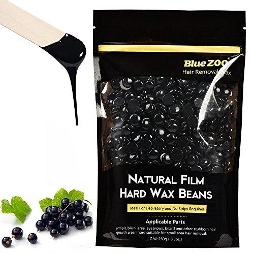 Hair Removal Hard Wax Beans Brazilian Depilatory Waxing Hot Film Pebbles for Bikini Body Man and Woman 250g Black