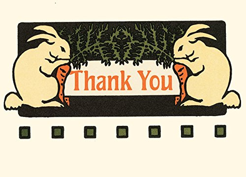 Bunny Thank You: Unboxed Set of 6 Cards ebook