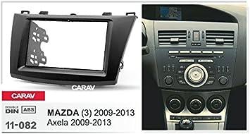 3 CARAV 11-082-15-2 2-DIN Marco de pl/ástico para Radio para Mazda Axela 2009-2013