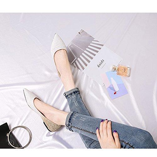 WENJUN Zapatos Con De Todos Color Zapatos Lentejuelas De Boda De Moda De Personalizados De De De Partidos Boda Planos Burgun Femeninas Zapatos De Planos Cristal Banquete Los Nupciales Zapatos Boda r85vqrw