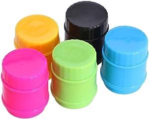 5pc Food Sealing Clip Plastic Reusable Food Storage Sealing Magic Clips, Bag Preserver Screw Cap for Food, Meat, Snack Fresh, Food Saver Cap