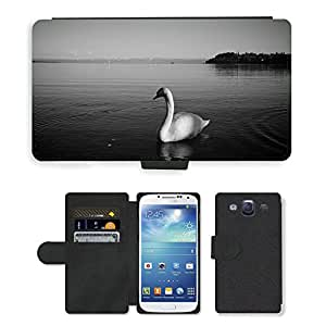 GoGoMobile Flip PU Leather Wallet Case with Credit Card Slots // M00117669 Lake Constance Swan Bird Animal Lake // Samsung Galaxy S3 S III SIII i9300