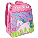 Stephen Joseph Personalized Little Girls' Go Go Unicorn Backpack With Name