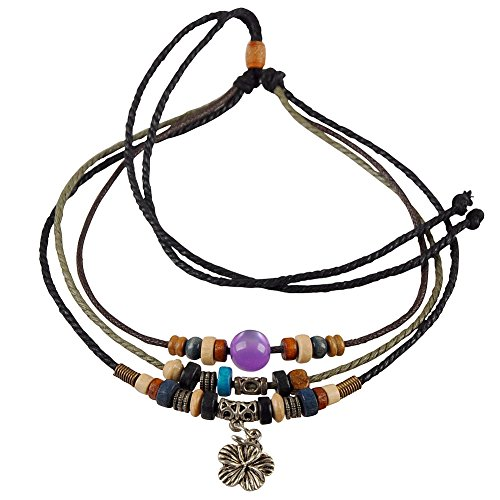 Ancient Tribe Adjustable Unisex Hemp Cords Multi Strands Choker Necklace