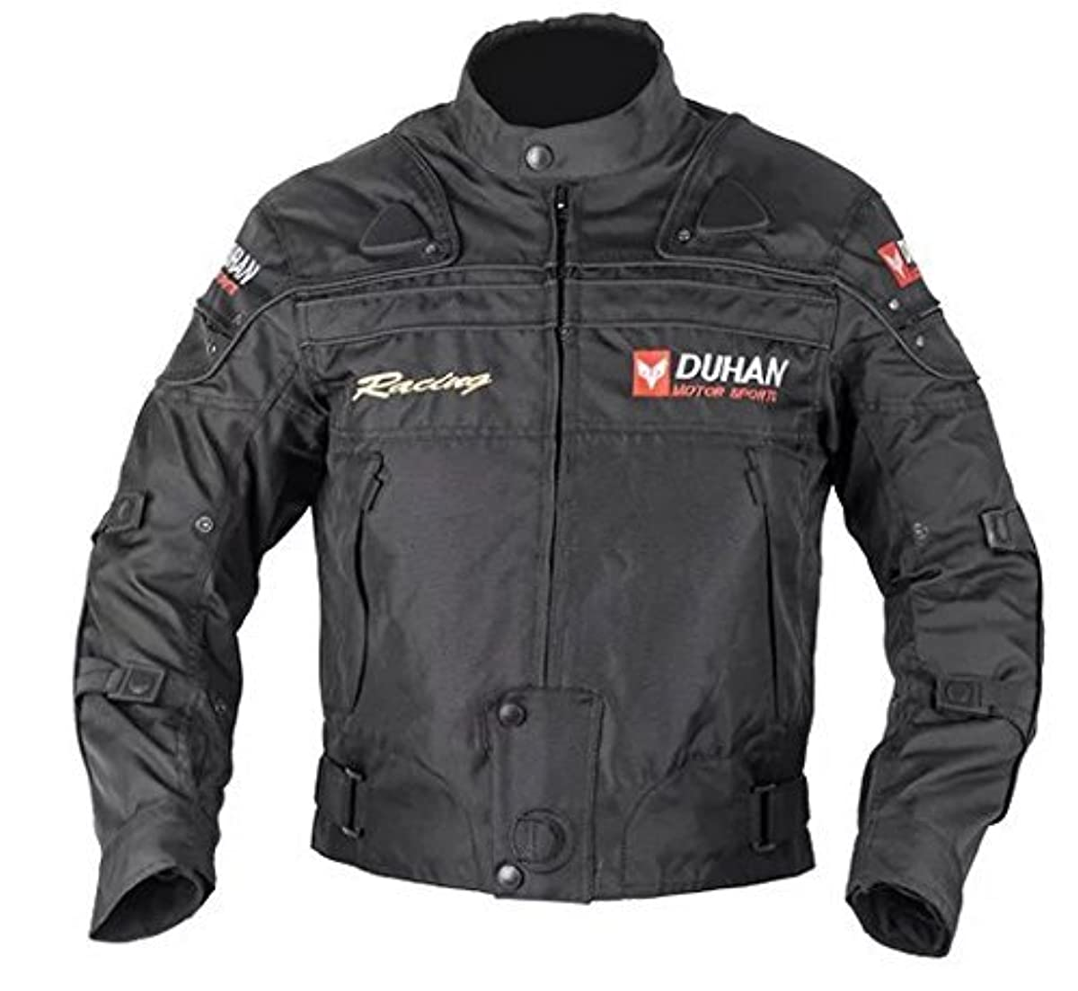 [해외] DUHAN(do 한) 오토바이 재킷 프로텍터부 라이딩 재킷 L 검정 4계절용 춘여름 가을동용 905402