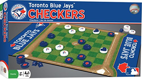 (MasterPieces MLB Toronto Blue Jays Checkers Board Game)