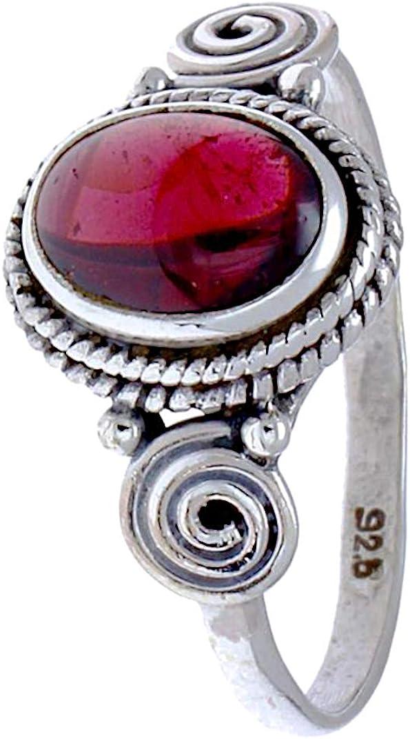 CHIC de Net Plata Anillos Rubin Cuerdas espirales círculos ovalado rojo rosa puntos plata de ley 925 anillos 50 (15.9): Chic-Net: Amazon.es: Joyería