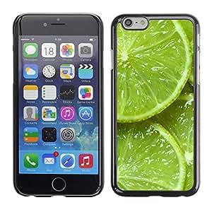 For Apple iPhone 6 Plus(5.5 inches)Case , Green Citrus Fruit Nature Vibrant - Diseño Patrón Teléfono Caso Cubierta Case Bumper Duro Protección Case Cover Funda
