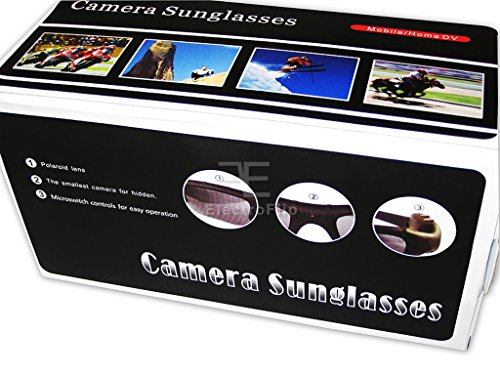 Covert Spy Gear (Unique Spy Eye Gear Digital Camcorder Sunglasses w/ MicoSD Slot)