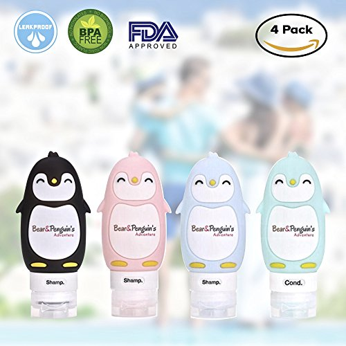 Travel Bottles TSA Approved, Silicone Travel Bottles, Leak Proof Travel Bottles, Travel Size Bottles, Travel Set, Refillable cosmetic containers, Travel Shampoo, Lotion Conditioners