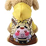 ❤️ Sunbona Schoolbag Cartoon Fake Straps Hoodied Sweatshirts Dog Clothes Pet ClothingShoulder School Bag