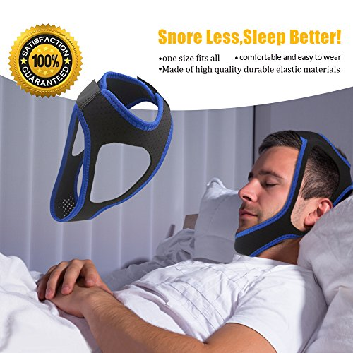 Gents Strap - GFTSTORE Chin Strap Anti Snoring Chin Strap, Adjustable Stop Snoring Strap for Men and Women-Black (Black)