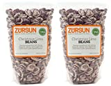 Zursun Heirloom Dry Christmas Lima Beans 20 oz each (2-Pack)