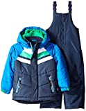 Rothschild Little Boys' Toddler Chevron Quilted Snowsuit, Navy, Small/2T