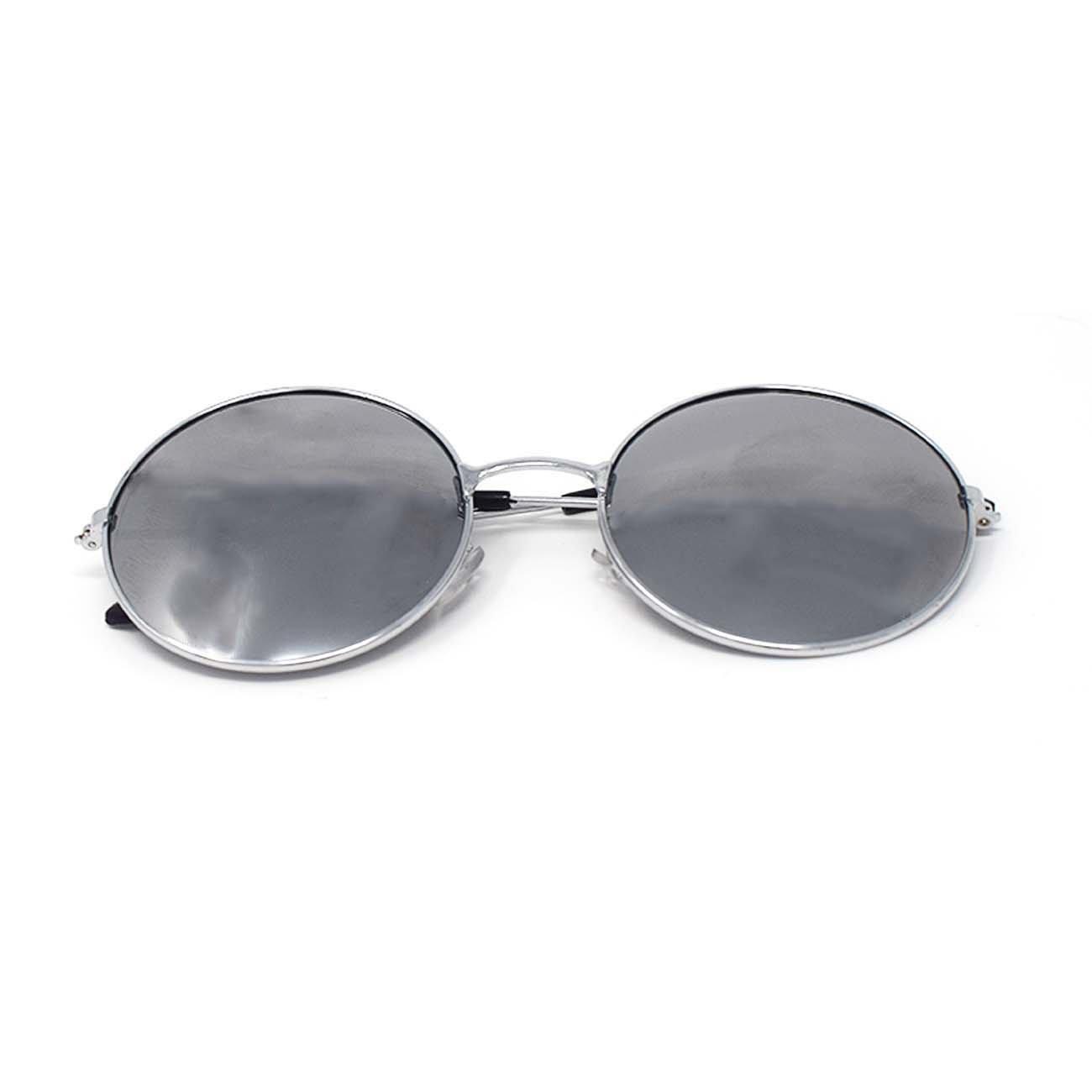 Ultra® Plata enmarcada gafas con plata espejo lentes adultos Retro ...