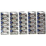 50 Pack Maxell LR44 AG13 357 button cell battery NEW HOLOGRAM PACKAGE by Maxell