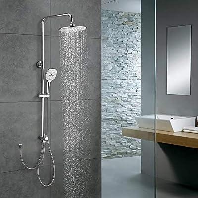 WOOHSE - Columna de ducha de diseño, incluye manguera y alcachofa ...