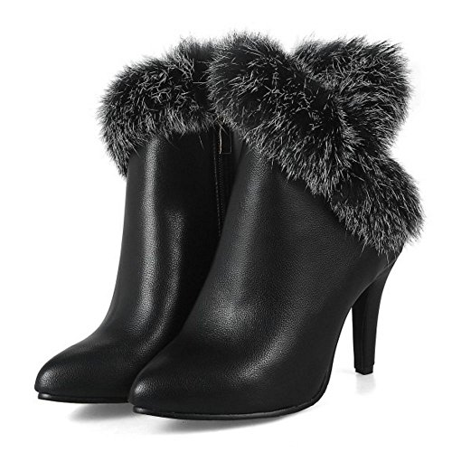 Fashion Women Black Party Zipper KemeKiss Boots ZxU0wzZq