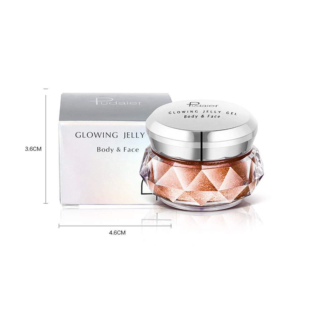 Xshuai® Jelly Gel Surligneur Make Up Shimmer Paillettes Crème visage des  ombres à paupières Glow ... 2aabc5a80f26