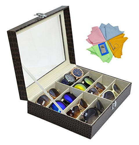 3 Gifts for Free Eyeglass Storage Boxes Sunglass Box Holder Brown Jewelry Organizer (Repair Order Holders)