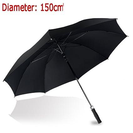 Paraguas Refuerzo Paraguas Negro Doble Hombre Comercio A Prueba De Viento Mango Largo Paraguas Largo Grande