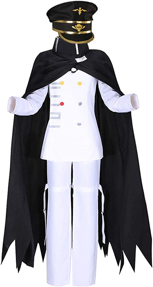 Cos-Animefly Ouma Kokichi Cosplay White Uniform,Anime Danganronpa Cosplay Costume Halloween Suit Outfit for Women Men