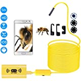 Wifi Endoscope,Semi-rigid Cable Wireless Borescope HD Inspection Camera Waterproof for iOS and Android Smart phone Windows PC Tablet 16.4ft