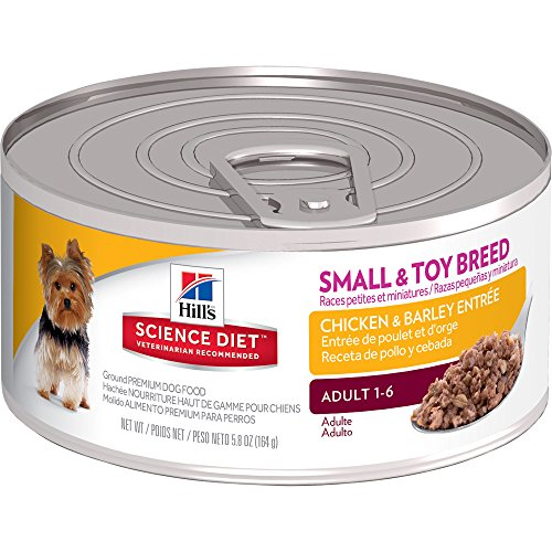 Hill's Science Diet Adult Small & Toy Breed Wet Dog Food, Chicken & Barley Entrée Canned Dog Food, 5.8 oz, 24 Pack
