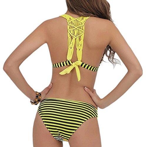 Traje de baño de las señoras Traje de baño de traje de baño de traje de baño de traje de baño Bikini Amarillo