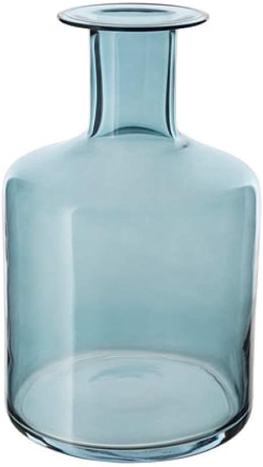 Ikea Clear Textured Glass Bottle Vase