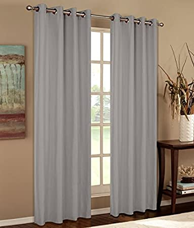 Vorhang blickdicht matt Schal 175x140 aus Microsatin Apfelgrün Ösen