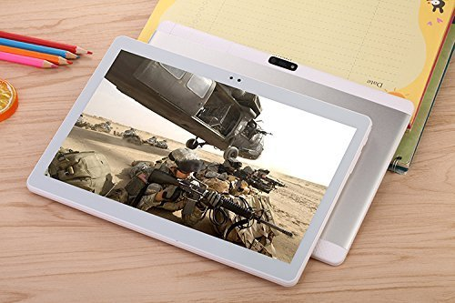 Newest 10.1 Inch Tablet PC Android 7.1 Octa Core 4G RAM 64G ROM WIFI GPS 7 8 9 Dual sim card Phone Call Tablets Pc HD high definition silvery Bestenme