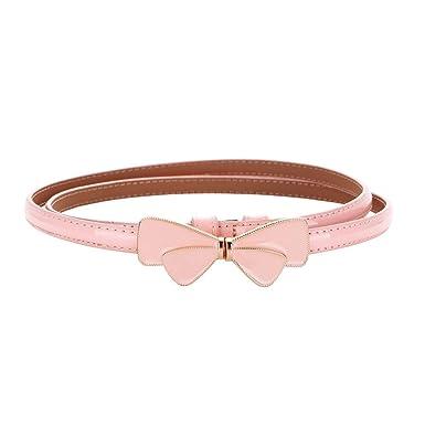 ZH-Womenbelt Cinturón para mujer de cuero lazo simple con falda ...