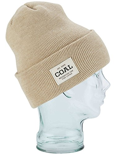 Coal Men's the Uniform Fine Knit Workwear Cuffed Beanie Hat, Stone, One Size (Coal Headwear)