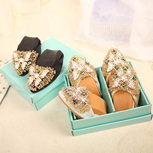 Fondo de Poco Planos de de Profundos Mariposa Zapatos UE Maternidad Trabajo de 42 de de Suave Zapatos FLYRCX imitación Diamantes Puntiagudos Zapatos C Mujer Antideslizantes de CY1qw7x
