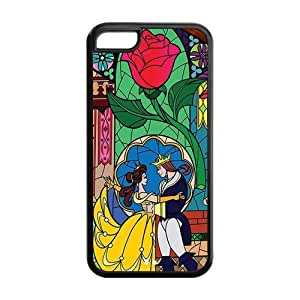 Mystic Zone Custom Beauty and the Beast iPhone 5C Back Cover Case for Apple iPhone 5C -(Black and White) -MZ5C00011